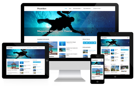 Poseidon - Magazine News WP Theme Free