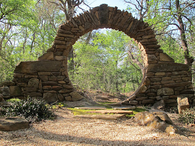 beautiful rock circle moon gate