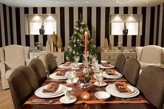 decorar comedor navidad