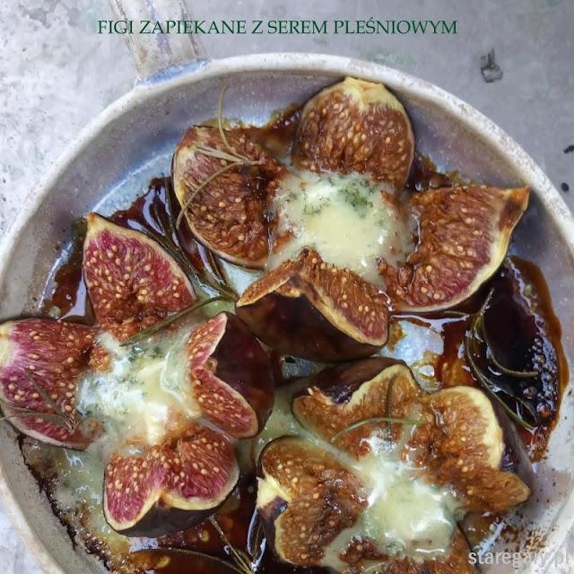 Figi zapiekane z serem pleśniowym