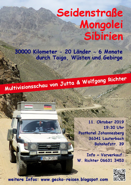 "Poster Lauterbach Multimedia-Show ""Seidenstraße"""