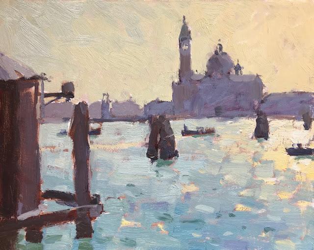 #374 'Morning Light, San Giorgio Maggiore' 8×10″