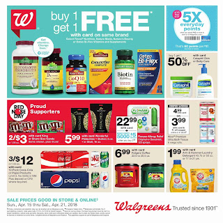 Walgreens Weekly Ad April 22 - 28, 2018