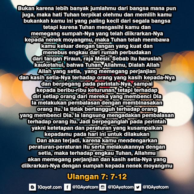 Ulangan 7: 7-12