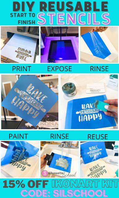 Ikonart coupon, 15% off ikonart, ikonart smart stencil, diy custom stencils