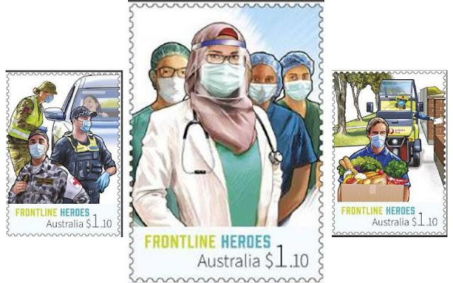"""Australia Post Cetak Prangko dengan Gambar Nakes Berhijab, """"Pahlawan Garis Depan"""""""