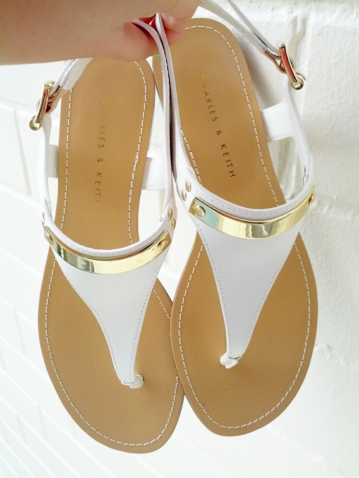 eb2fd08f12606 Charles and Keith - Gold Metal Plate Sandals