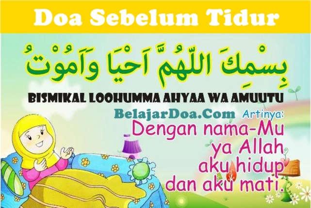 Bacaan Doa Sebelum Mau Tidur Arab Latin dan Terjemahan Arti Indonesia