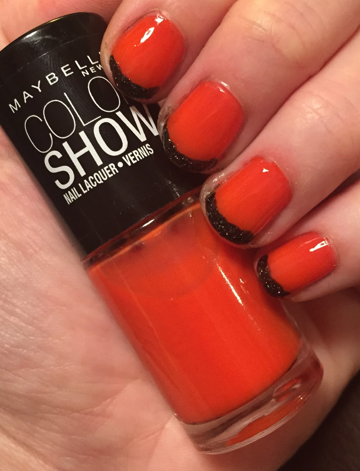 The Beauty Of Life: Happy Halloween! Orange & Black French