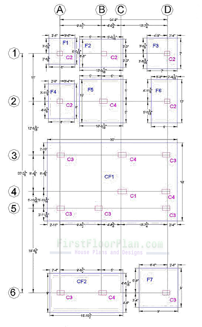 6 Storey Building Footing Layout