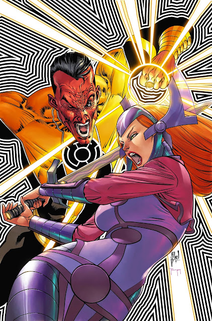 SINESTRO #7 cover process by Guillem March