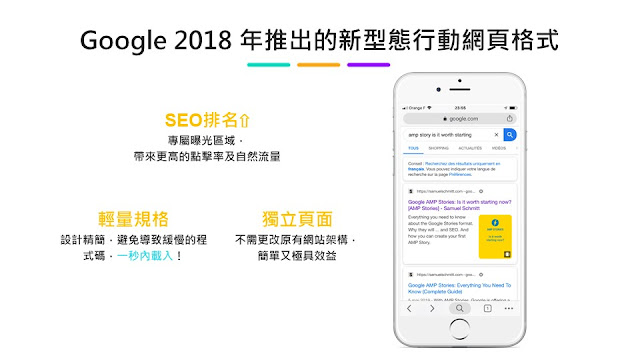 Google 2018 年推出的新型態行動網頁格式
