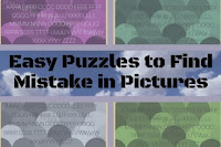 Easy Puzzles to Find Mistake in Pictures
