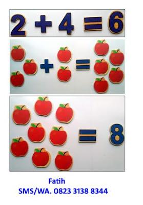mainan edukatif kayu counting apple