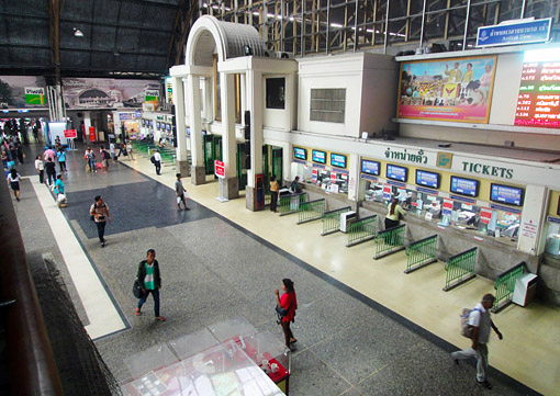 Hua Lamphong Train Station  main hall Bangkok