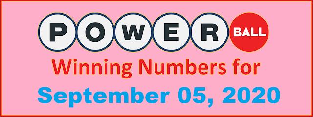 PowerBall Winning Numbers for Saturday, September 05, 2020