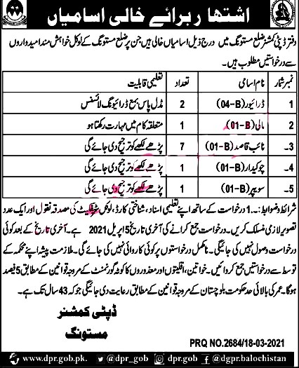 Latest Jobs in Deputy Commissioner  Office DCO 2021