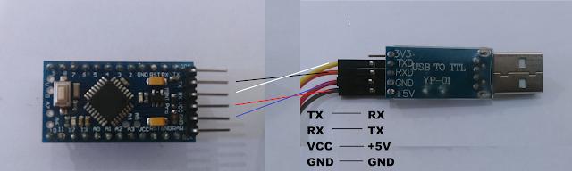 cara menggunakan arduino pro mini