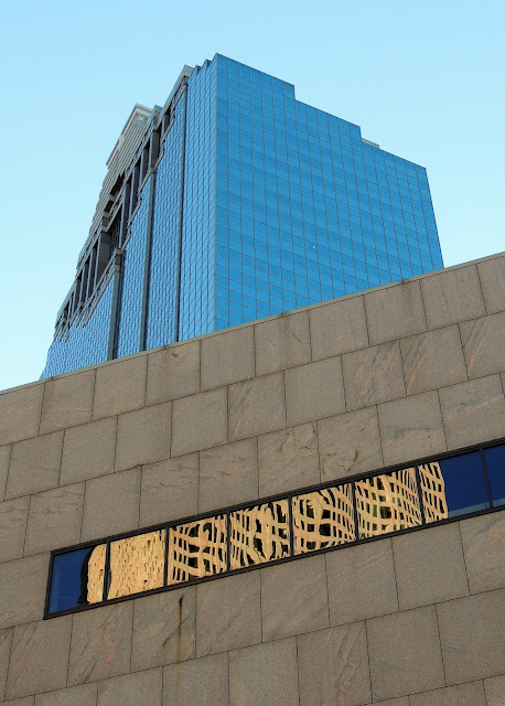 Central Library (HPL) and Heritage Plaza Office Tower - Downtown Houston