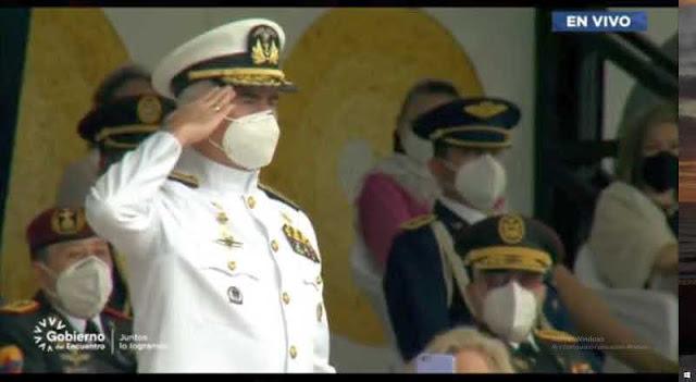 Contralmirante Luis Brumel Vázquez Bermúdez Comandante General de la Armada de Ecuador