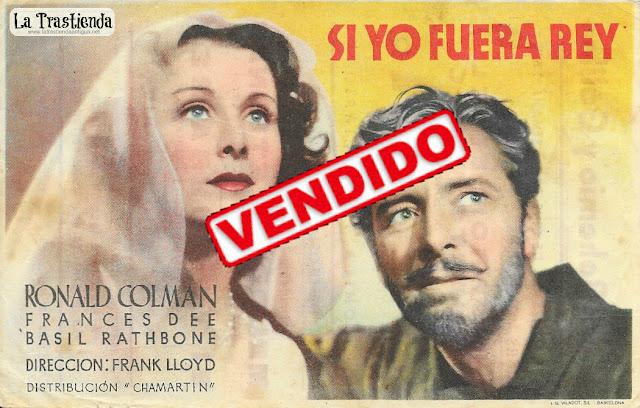 Si Yo Fuera Rey - Programa de Cine - Ronald Colman - Frances Dee - Basil Rathbone