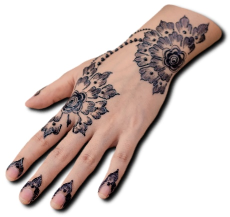Back Hand Mehndi Design Unique