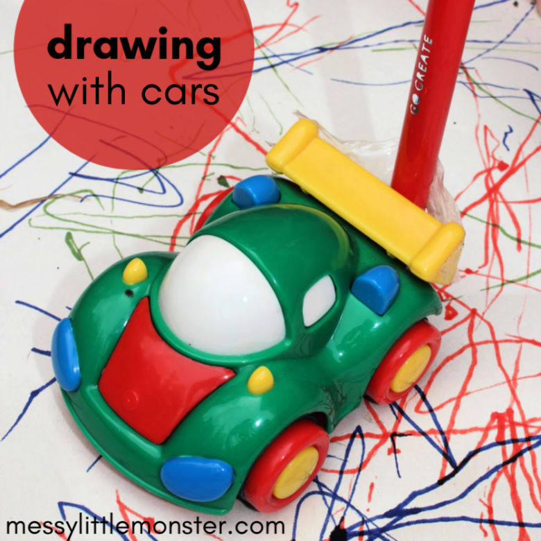 mark making with cars