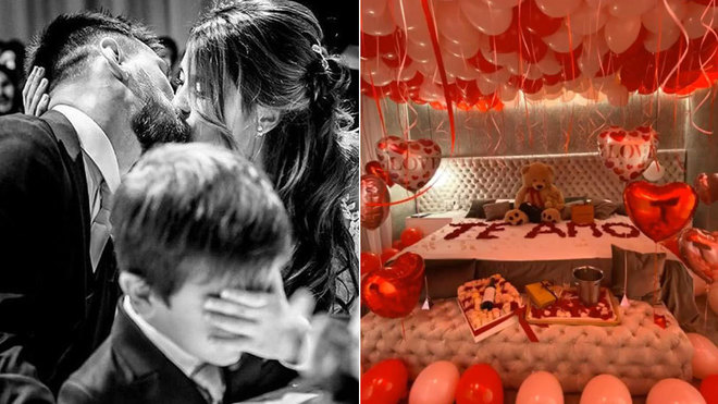 (IN PICTURES) Messi's romantic Valentine's Day surprise