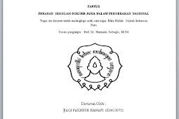 PAPER PERANAN SEKOLAH DOKTER JAWA DALAM PERGERAKAN NASIONAL (Sejarah Indonesia Baru)