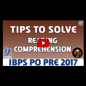 Master Class | Tips to Solve Reading Comprehension | English | Preparation Lecture 15 | IBPS PO 2017