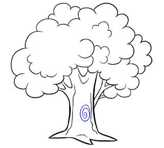 طريقة رسم شجرة للاطفال ، رسمة سهلة للمبتدئين بالرصاص