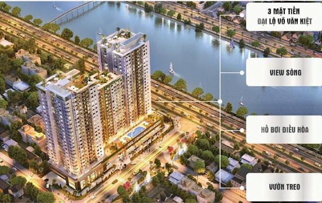 Bán lại căn hộ Viva Riverside 2 phòng ngủ, lầu cao, view Quận 1