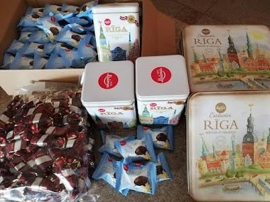 Saņēmām ziedojumu no mūsu draugiem Orkla Latvija (Laima)