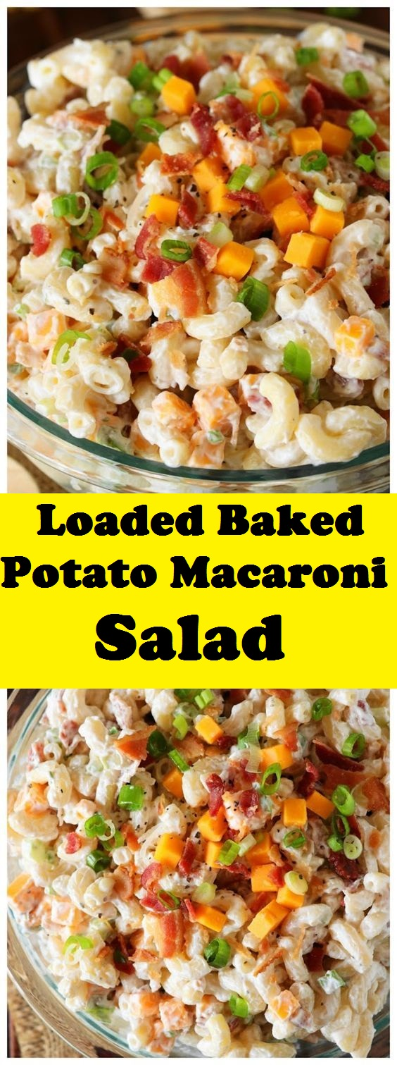 Loaded Baked Potato Macaroni Salad