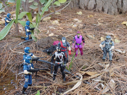 1998 Cobra Trooper, Viper, TRU Exclusive, 1993 Cobra Commander, 2001 Rock Viper, 1990 SAW Viper, Cobra officer