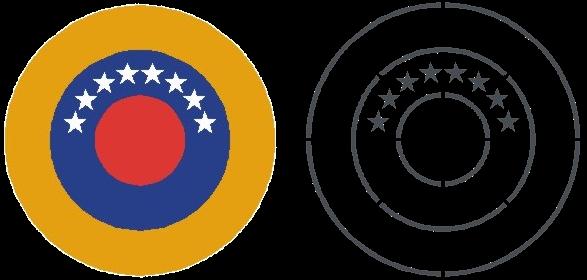VENEZUELA ESCARAPELA DE MOLDE Y PINTURA 2012 nacional ceo dir 119 cucarda insignia