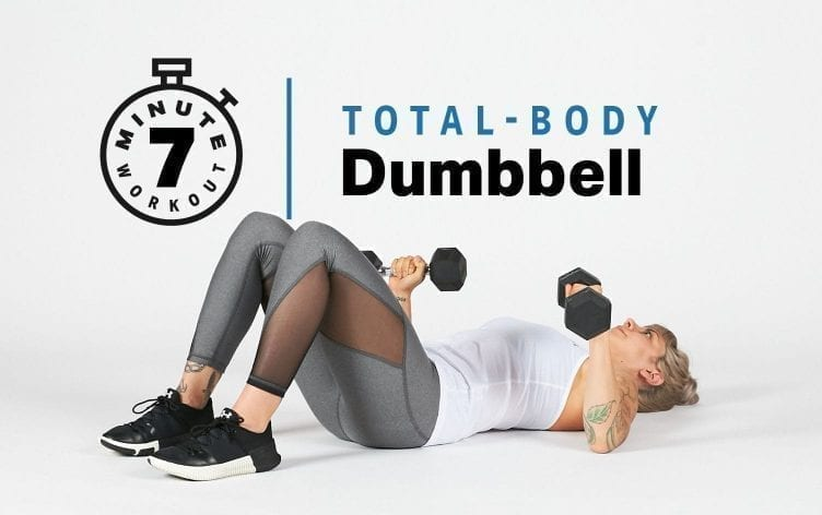 7-Minute Total-Body Dumbbell Workout
