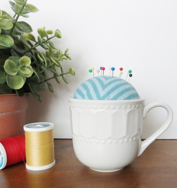 How to Make a DIY Teacup Pin Cushion from Creative Green Living