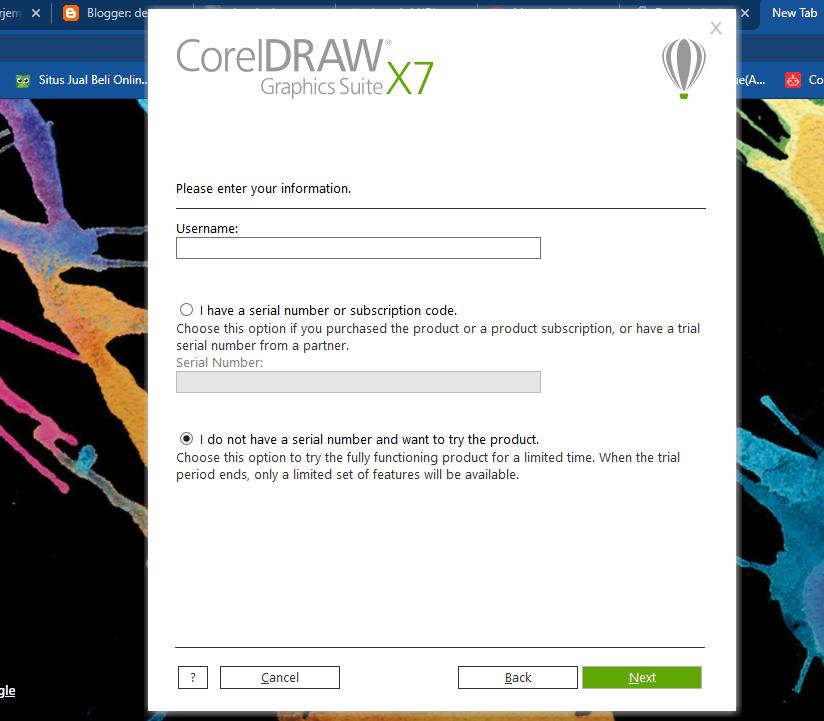 cara install corel draw x7 full setting