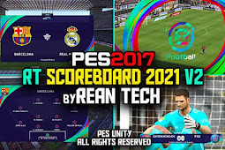 Official Scoreboard PES 2021 V2 + Replay Logo For - PES 2017