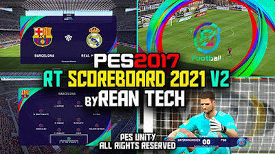 Official Scoreboard PES 2021 V2 + Replay Logo PES 2017