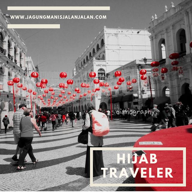 Traveling menggunakan hijab