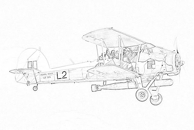 biplanes coloring pages coloring.filminspector.com Fairey Swordfish