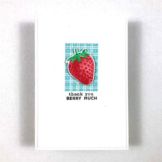 Sunny Studio Stamps: Berry Bliss Customer Card by Samantha VanArnhem