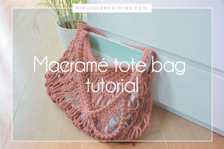 Macrame tote bag tutorial