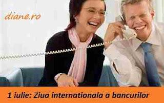 1 iulie: Ziua internațională a bancurilor