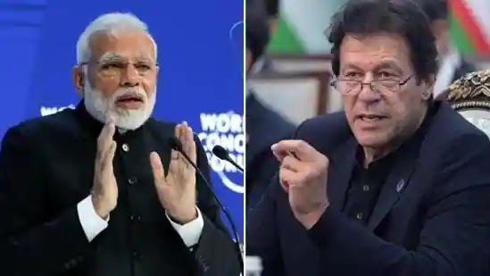 Indian PM Narendra Modi and Pakistan Pm Imran Khan