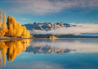 Autumn, Golden, Lake Wanaka, New Zealand, NZ, Otago, Wanaka