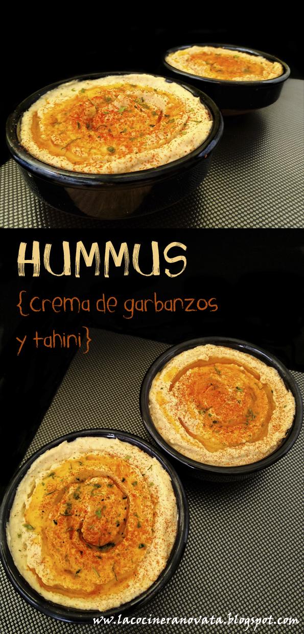Hummus crema arabe de garbanzos y tahini la cocinera novata olla rapida receta cocina dip pate pobres economica rapida express facil vegetariano vegano legumbres