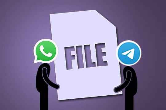 whatsapp dan telegram aplikasi bisa kirim file besar
